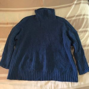 Aerie Oversized Chenille Turtle Neck Sweater